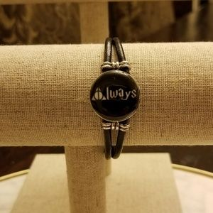 ⚡Harry Potter Always Snap Leather Bracelet